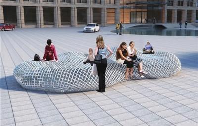 渔网公共座椅        以渔业文化为创意思路